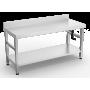 TABLE INOX ADOSSE REGLABLE DIM 1500X600X760/960MM